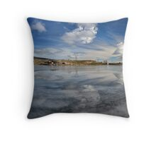 Frozen Clouds Throw Pillow
