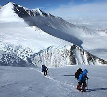 Climbing to Shinn (Antarctica) by Marion Joncheres