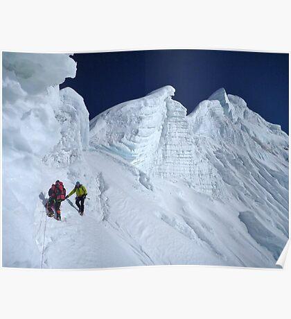 Langtang Ri summit ridge Poster