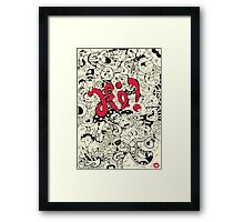 Food Doodles Framed Print