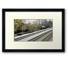 Yellow Line Framed Print