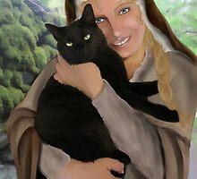 Saint Gertrude of Nivelles by Rowan  Lewgalon