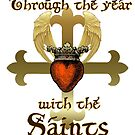 Through the year with the Saints by Rowan  Lewgalon