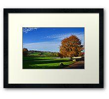 Beautiful Devon Countryside -Shute Devon UK Framed Print