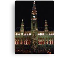 Vienna City Hall at Christmas Canvas Print