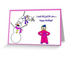 Those Poor Poor Snowmen... Greeting Card