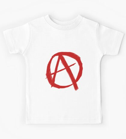 Anarchy Symbol Graffiti Style Kids Tee