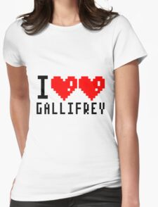I heart heart Gallifrey 8-bit Womens Fitted T-Shirt