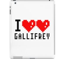 I heart heart Gallifrey 8-bit iPad Case/Skin
