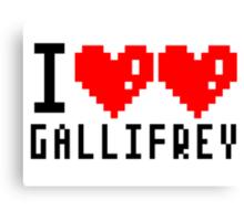 I heart heart Gallifrey 8-bit Canvas Print