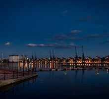 Royal Victoria Dock at Dusk by Sue Martin
