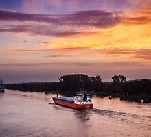 Sunrise on the Keil Canal by Sue Martin