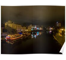 River Ouse in York at Night Poster