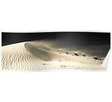 Drifting Dune (duotone) Poster