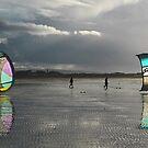 Kitesurfers at Barassie by George Crawford