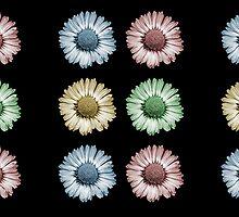 Pop Art Daisy x 6 by tanjica
