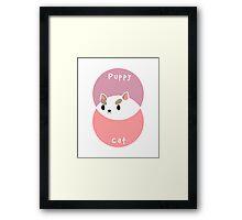 Part Puppy Part Cat Framed Print