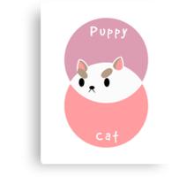 Part Puppy Part Cat Canvas Print