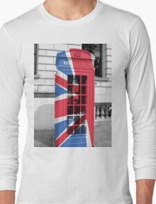 Union Jack Phonebox Long Sleeve T-Shirt