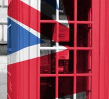 Union Jack Phonebox Sticker
