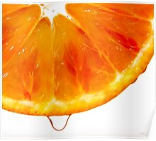 Orange slice closeup Poster