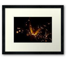 Sparkler Macro photography Framed Print