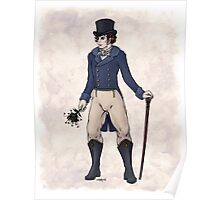 Sir Aubrey Granthorpe - Regency Fashion Illustration Poster