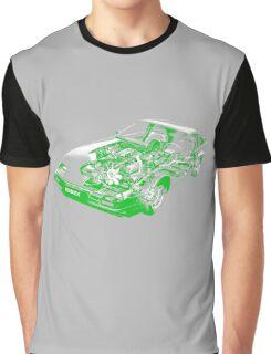 Datsun Nissan 300ZX Z31 Turbo _Green/White Graphic T-Shirt