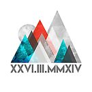Geometric Mountain  by Jacqui Frank