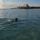 Lone Snorkeler - Mullet Bay by come-along-pond