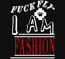 Fuck Fly I Am Fashion [Wht]   FreshThreadShop.com Mens V-Neck T-Shirt