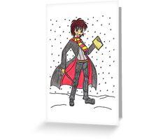 Winter Gryfindor Andy Barclay Greeting Card