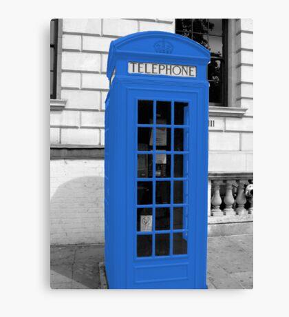 Blue Phonebox  Canvas Print