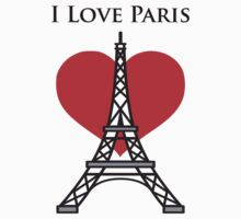 I Love Paris Baby Tee
