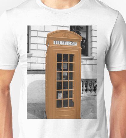 Orange Phonebox Unisex T-Shirt
