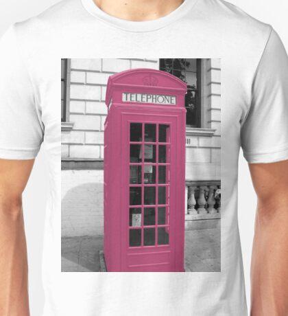 Pink Phonebox Unisex T-Shirt