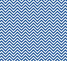 Blue Chevron Pattern by TilenHrovatic