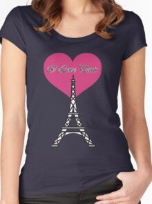 I Love Paris Women's Fitted Scoop T-Shirt