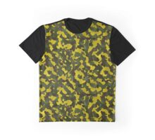 Yellow Green Camouflage Graphic T-Shirt