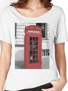 Red Phonebox Women's Relaxed Fit T-Shirt