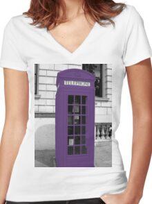 Violett Phonebox Women's Fitted V-Neck T-Shirt