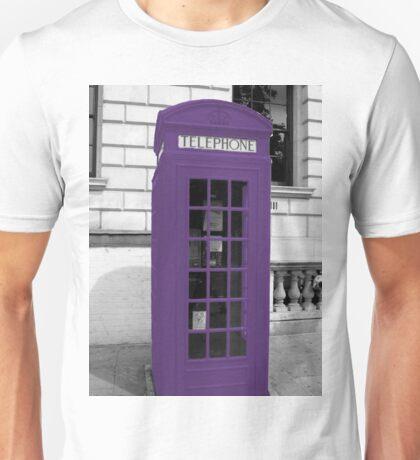 Violett Phonebox Unisex T-Shirt