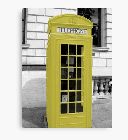 Yellow Phonebox Canvas Print