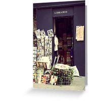 Paris Books Greeting Card