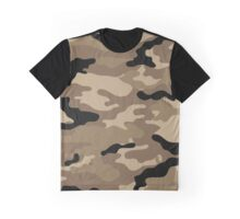 Brown Camouflage Graphic T-Shirt