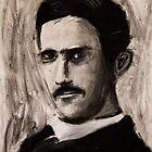 Nikola Tesla by Followthedon