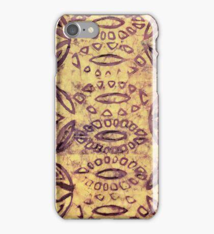 Hand batiked image iphone case iPhone Case/Skin