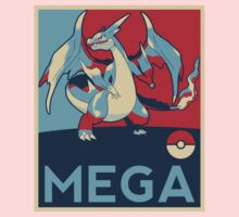 Obama style Mega Charizard Kids Clothes