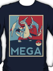 Obama style Mega Charizard T-Shirt