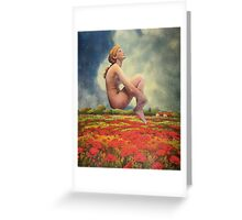 Over Fields of Poppies Greeting Card